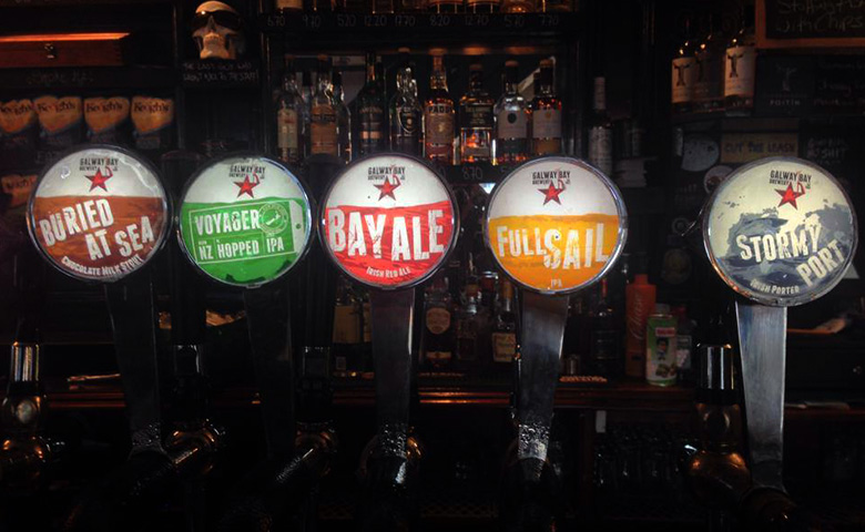 Galway Bay Brewery beer taps