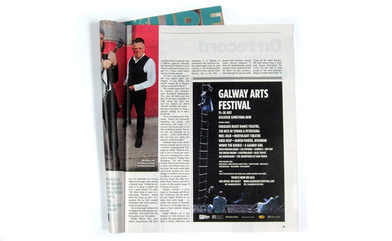 Advertising for Galway Arts Festival